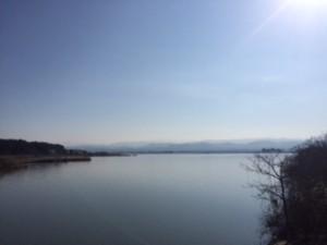 柴山潟からの白山連峰を撮ったつもり・・・